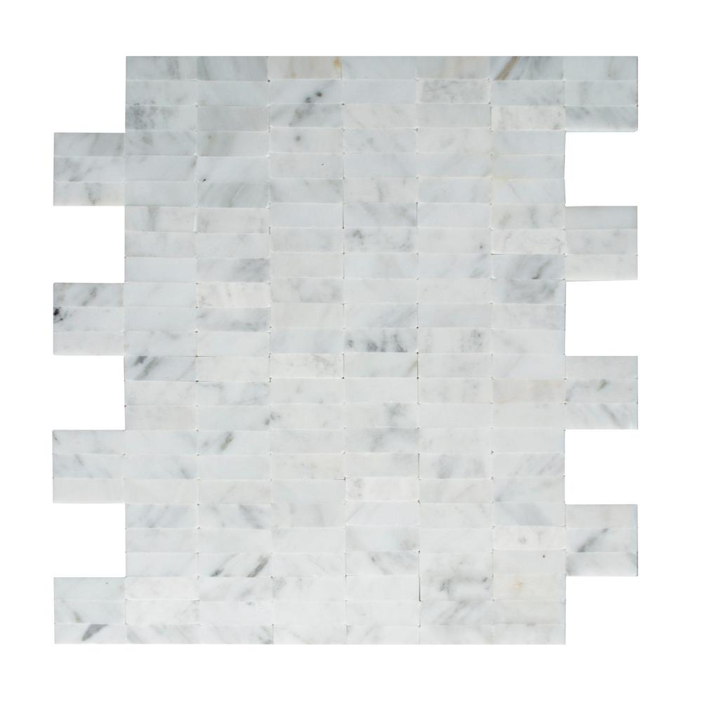 inoxia speedtiles freezy natural white in x in x 5mm stone self adhesive wall. Black Bedroom Furniture Sets. Home Design Ideas