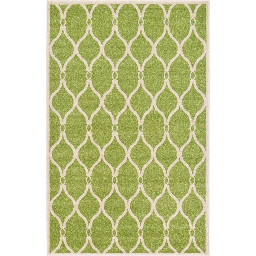 Unique Loom Trellis Green 5' X 8' Rug-3122754