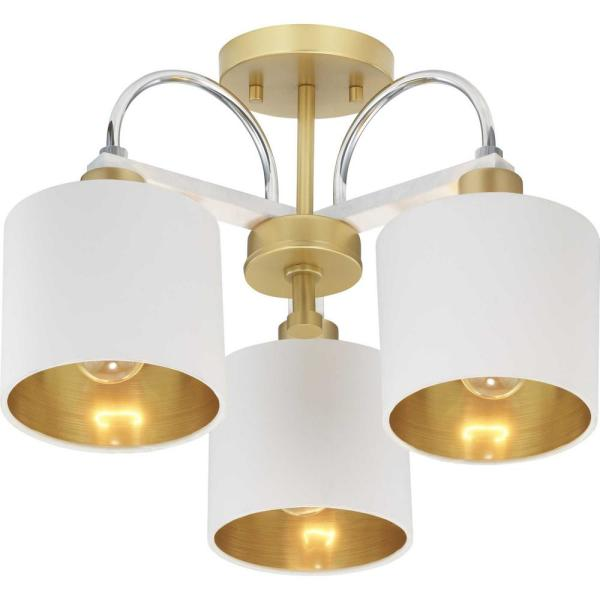 Rigsby Collection 2-Light Gold Semi- Flush Mount