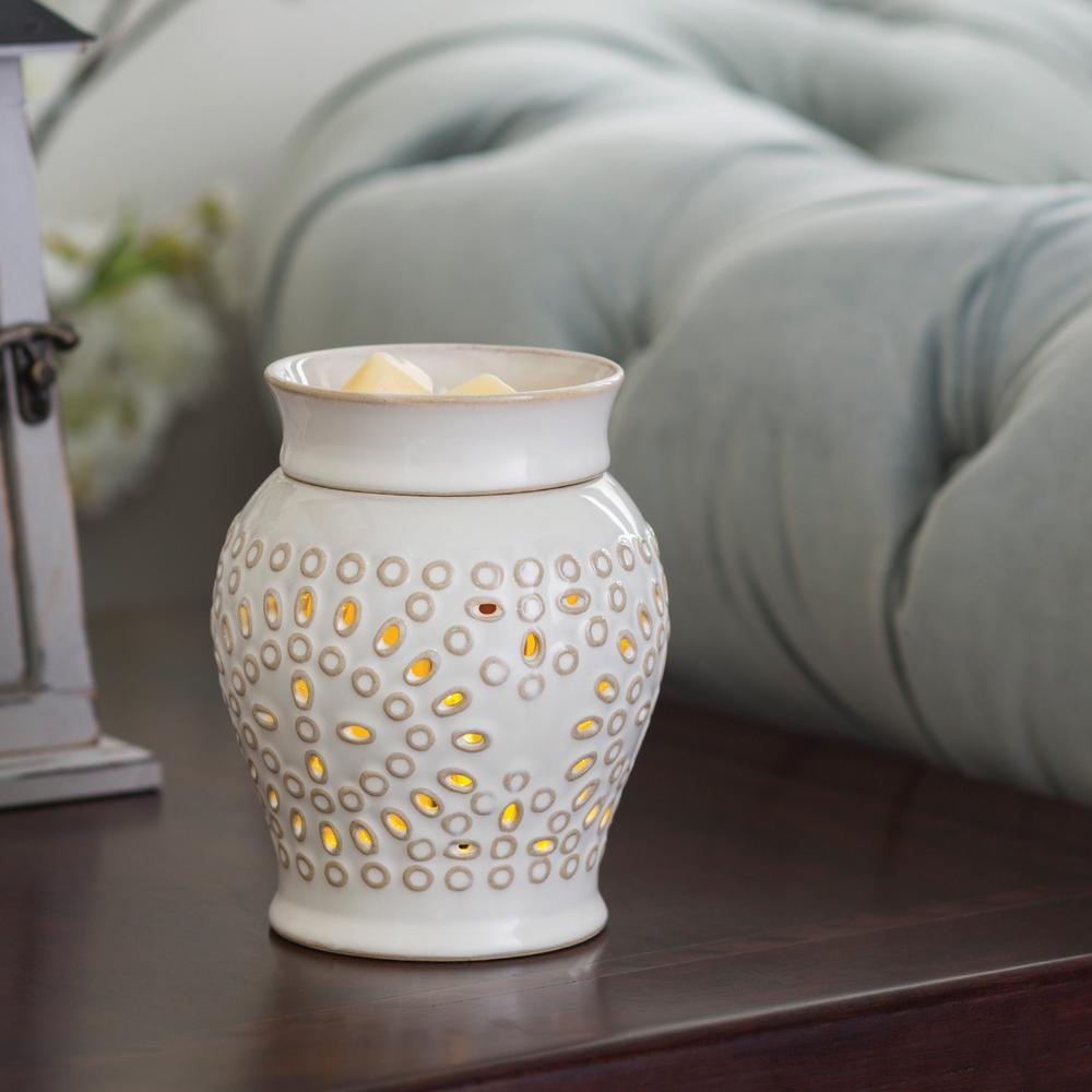 7.3 in Casablanca 2-in-1 Flickering Fragrance Warmer