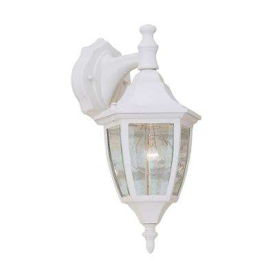 Builder Cast Aluminum White Outdoor Wall-Mount Lantern