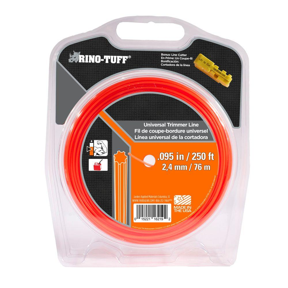 Rino-Tuff Universal 0.095 in. x 250 ft. Gear Shaped Trimmer Line