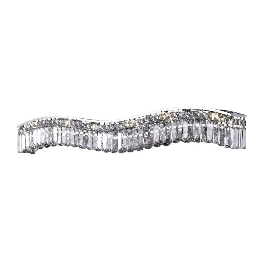 Elegant Lighting 10-Light Chrome Sconce with Clear Crystal