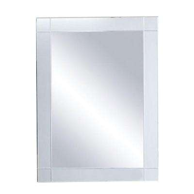 Rolalla 22.25 in. x 30.25 in. Surface-Mount Medicine Cabinet in White with Framed Mirror Door