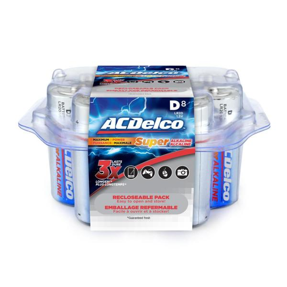 Super Alkaline Size D Battery (8-Pack)