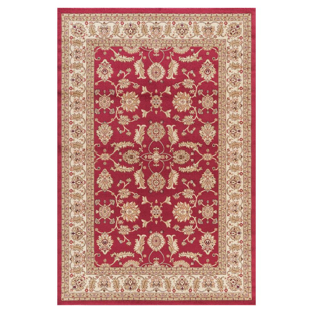 Concord Global Trading Jewel Antep Red 4 ft. x 6 ft. Area Rug
