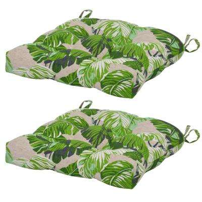 Fern Tropical Outdoor Seat Cushion 2 Pack