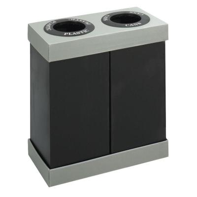 28 Gal. Double Recycling Center Receptacle Commercial Trash Can