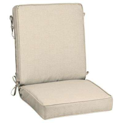 21 x 20 Outdoor Dining Chair Cushion in ...  sc 1 st  The Home Depot & Canvas Flax - Sunbrella - Outdoor Dining Chair Cushions - Outdoor ...