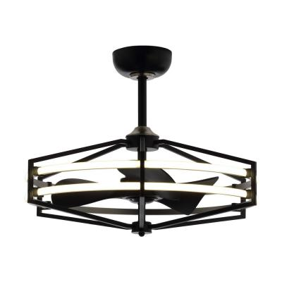 29 in. LED Indoor Black Downrod Mount Chandelier Ceiling Fan with Light and Remote Control Reversible