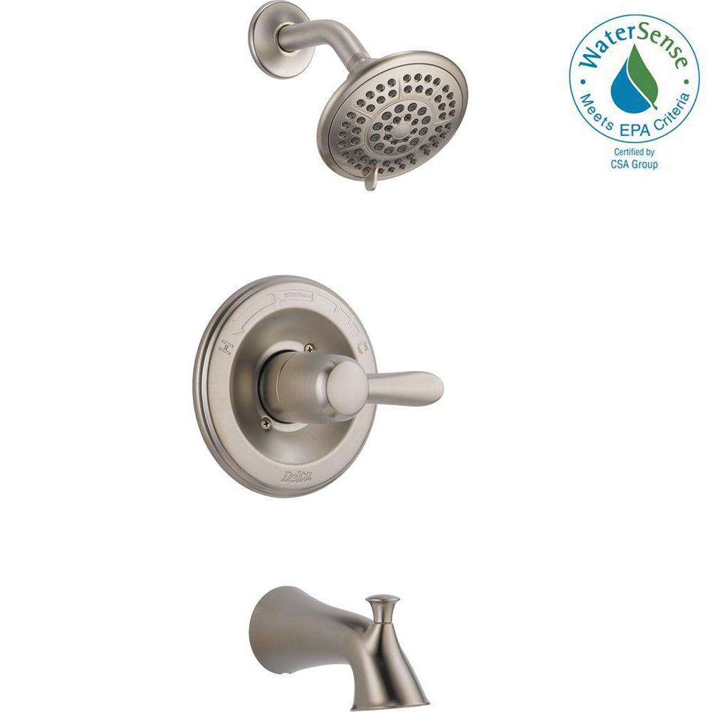 Delta Lahara 1 Handle Tub And Shower Faucet Trim Kit Only In Stainless Valve