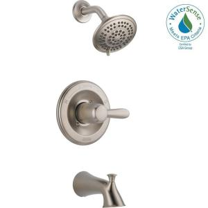 Lahara 1 Handle Tub And Shower Faucet Trim Kit Only In Stainless (Valve Not