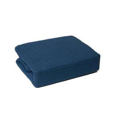Marquis Blue 100% Cotton Twin Blanket