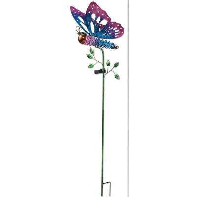 41 in. Purple Butterfly Solar Stake