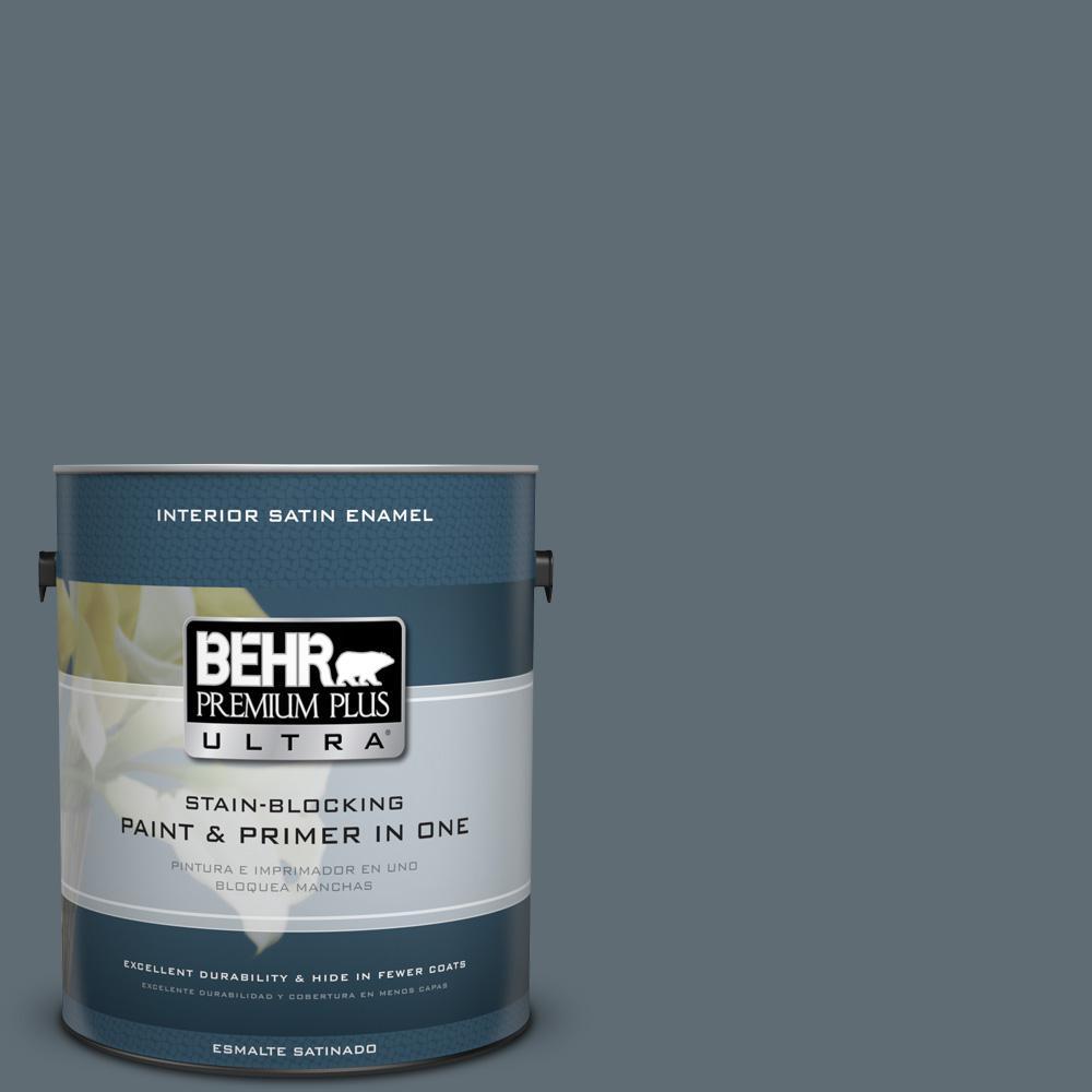 1 gal. #PPU26-22 Summer Storm Satin Enamel Interior Paint
