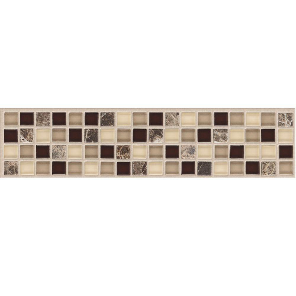 MARAZZI Artisan Bellini 2-3/4 in. x 12 in. x 8 mm Marble Mosaic ...
