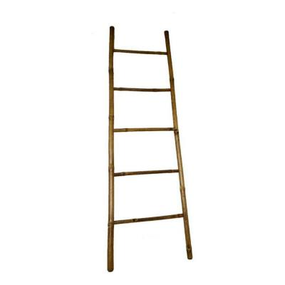 7 ft. H 5-Bar Ladder Rack Hand-crafted with Solid Bamboo