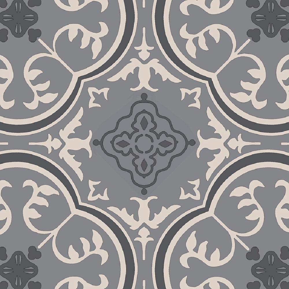 IVC Take Home Sample - Soho Grey Vinyl Sheet Flooring with 6 in. x 9 in.
