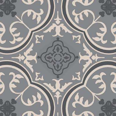 Take Home Sample - Soho Grey Vinyl Sheet Flooring with 6 in. x 9 in.