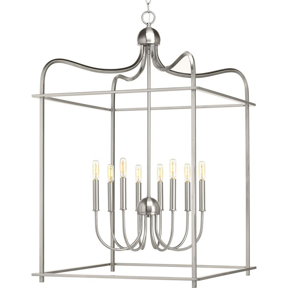 Assembly Hall Collection 8-Light Brushed Nickel Pendant