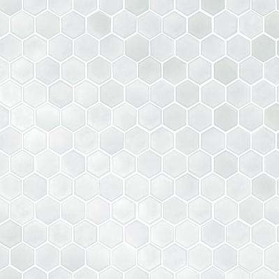 Hexagon Tile Silver Pearl Self-Adhesive Removable Wallpaper