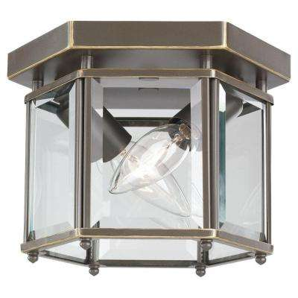 Bretton 2-Light Heirloom Bronze Flush Mount