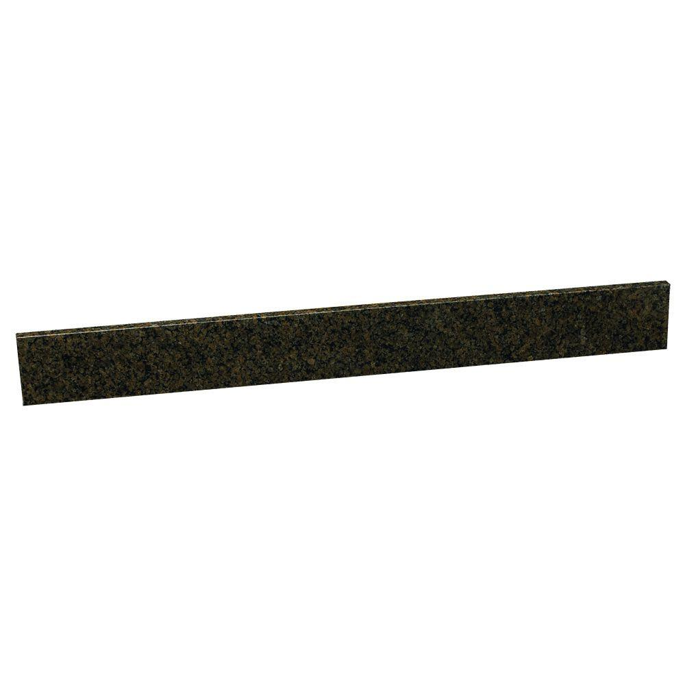Design House 37 in. Replacement Granite Backsplash in Tropical Brown-DISCONTINUED