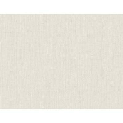 60.8 sq. ft. Oriel Cream Fine Linen Wallpaper