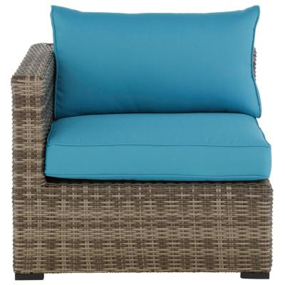 Muirwood Aluminum Outdoor Patio Left Arm, Right Arm or Corner with Sunbrella Blue Cushions