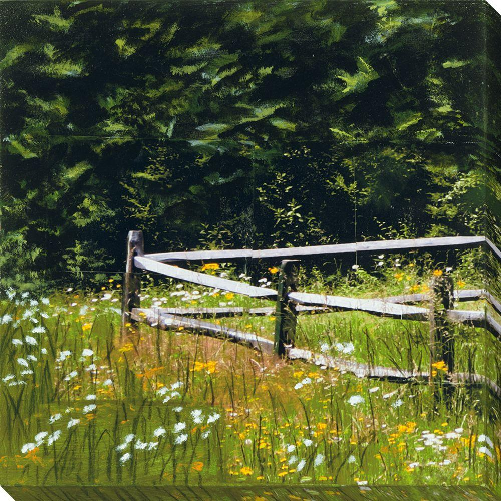 NEP Art 40 in. x 40 in. Fence Series VI Oversized Canvas Gallery Wrap