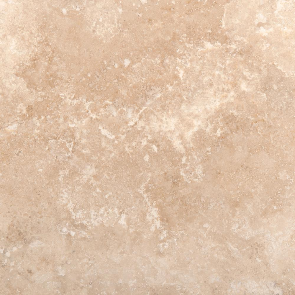 Emser Trav Crosscut Ivory Classic Filled and Honed 12.01 in. x 12.01 in. Travertine Floor and Wall Tile