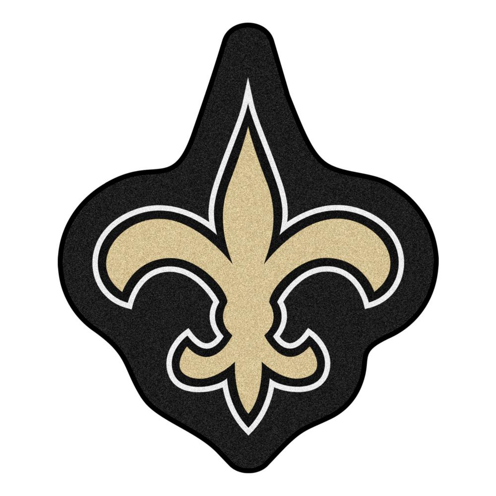86ec2dc2 FANMATS NFL - New Orleans Saints Mascot Mat 30.3 in. x 36 in. Indoor Area  Rug