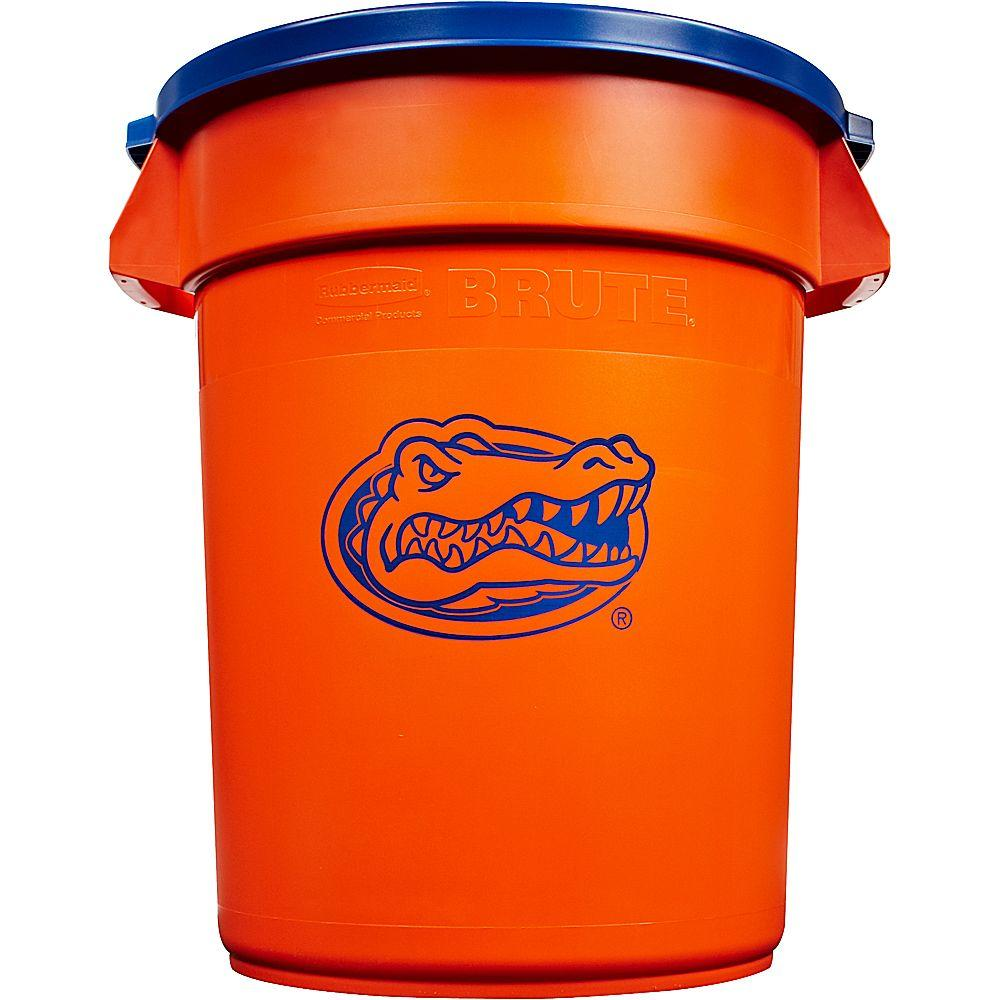 Rubbermaid Commercial Products BRUTE NCAA 32 Gal. University of Florida Round Trash Can with Lid
