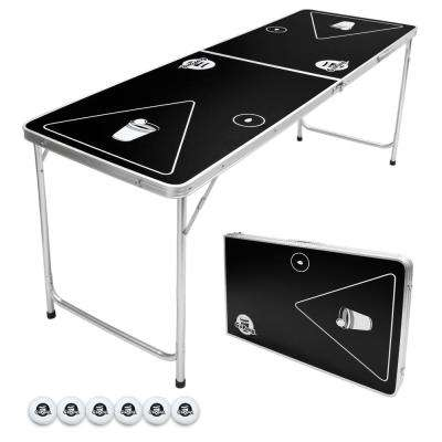 6 ft. Foldable Beer Pong Party Game Table Lightweight Aluminum Design Indoor Outdoor Portable Drinking