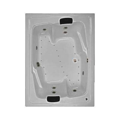 72 in. Acrylic Rectangular Drop-in Combination Bathtub in White