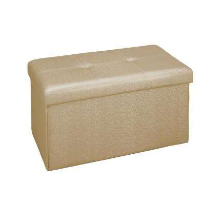 Metallic Gold Double Folding Ottoman