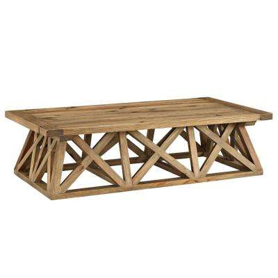 Camp Brown Wood Coffee Table