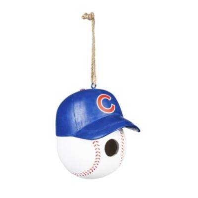 Chicago Cubs 6.5 in. x 7.5 in. x 8 in. Polystone Hat/Helmet Ball Birdhouse