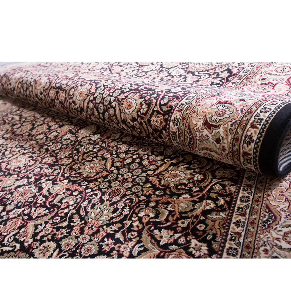 Home Dynamix Super Kashan Black 2 ft. 2 in. x Your Choice Length Indoor Roll Runner