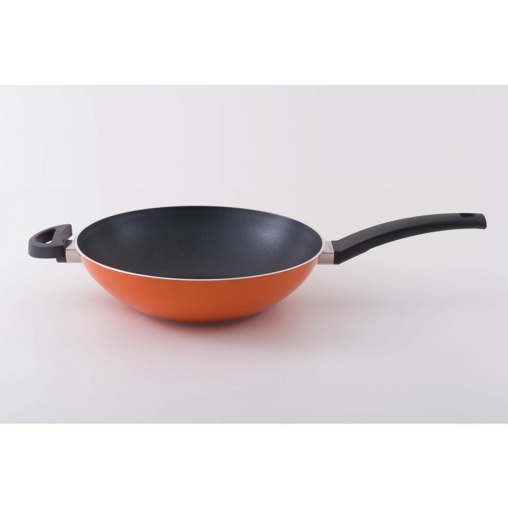 Eclipse 11 in. 3.4 Qt. Aluminum Non-Stick Orange Cookware