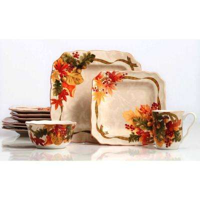 Autumn Celebration 16-Piece Dinnerware Set
