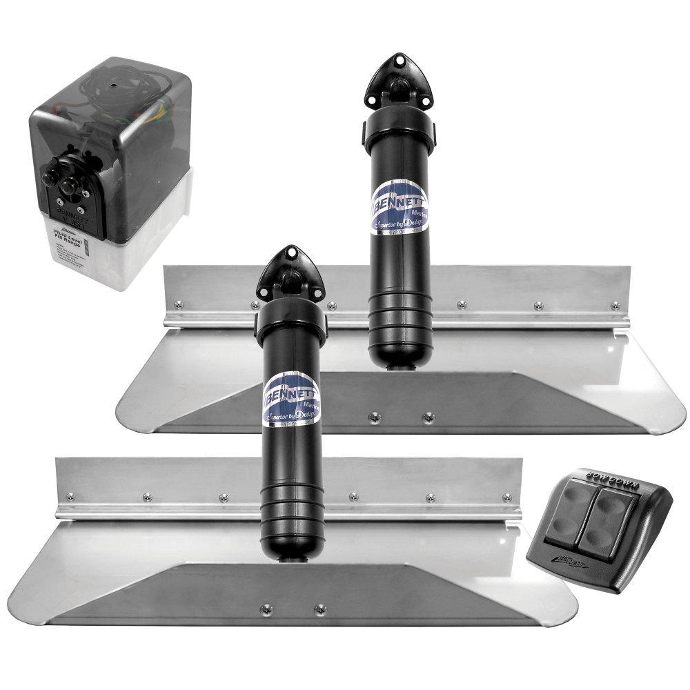 18 in. x 9 in. Hydraulic Trim Tab Set with Euro-Style Control