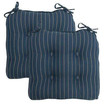 midnight stripe rapiddry deluxe tufted outdoor seat cushion