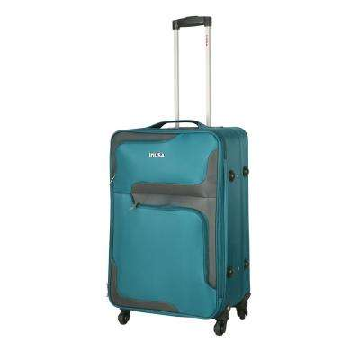 3D- City lightweight softside spinner 24 in.  Turquoise