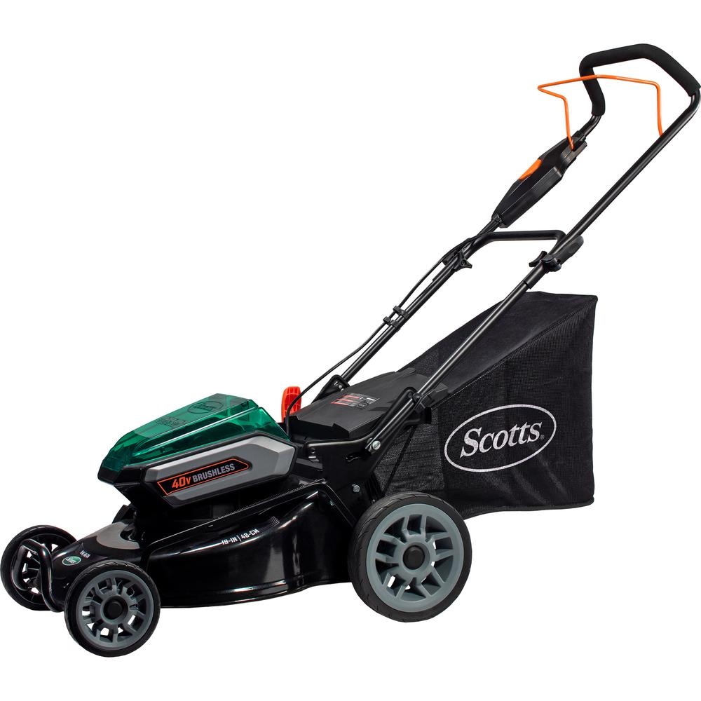 Scotts 19 in. 40-Volt Lithium-Ion Cordless Battery Walk Behind Push Mower 5 Ah Battery and Charger Included
