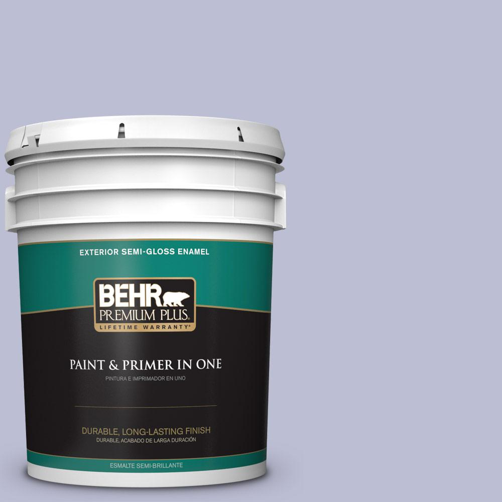 5 gal. #PPU15-15 Sweet Juliet Semi-Gloss Enamel Exterior Paint