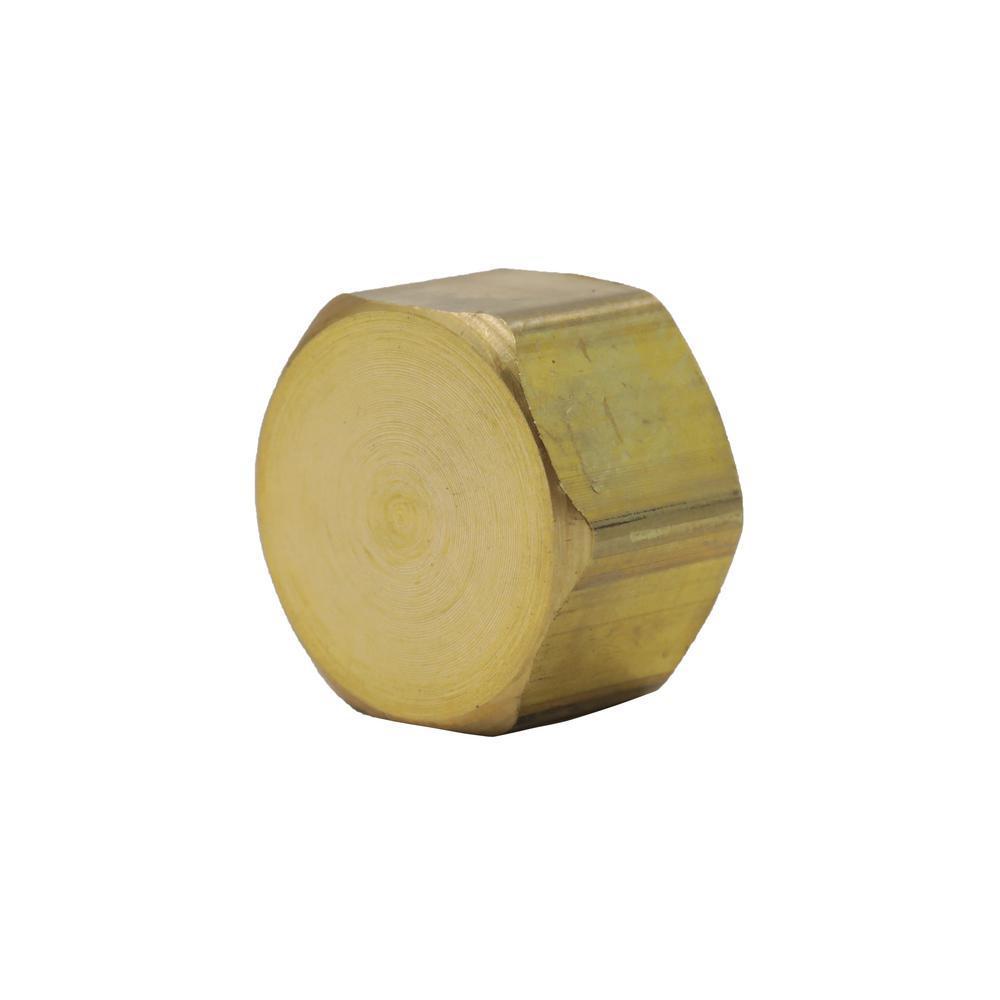 3/8 in. OD Compression Brass Cap Fitting