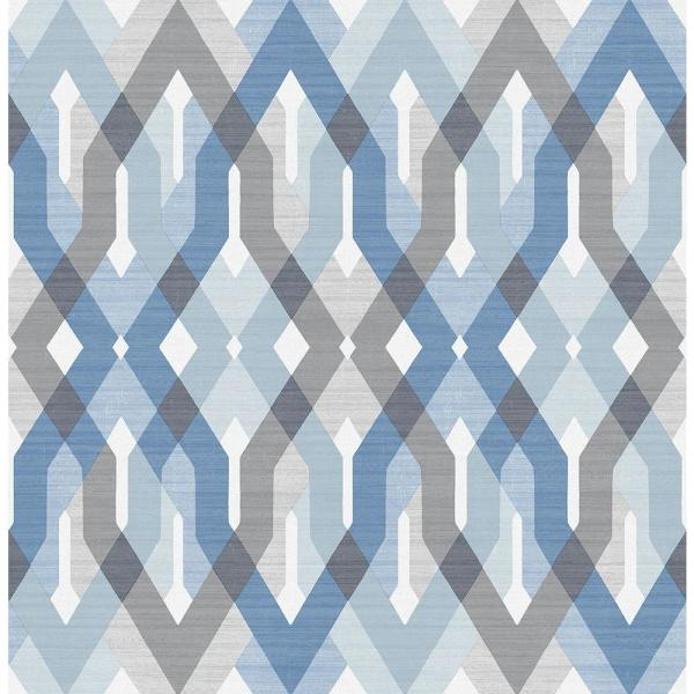 A-Street Harbour Blue Lattice Wallpaper 2656-004043