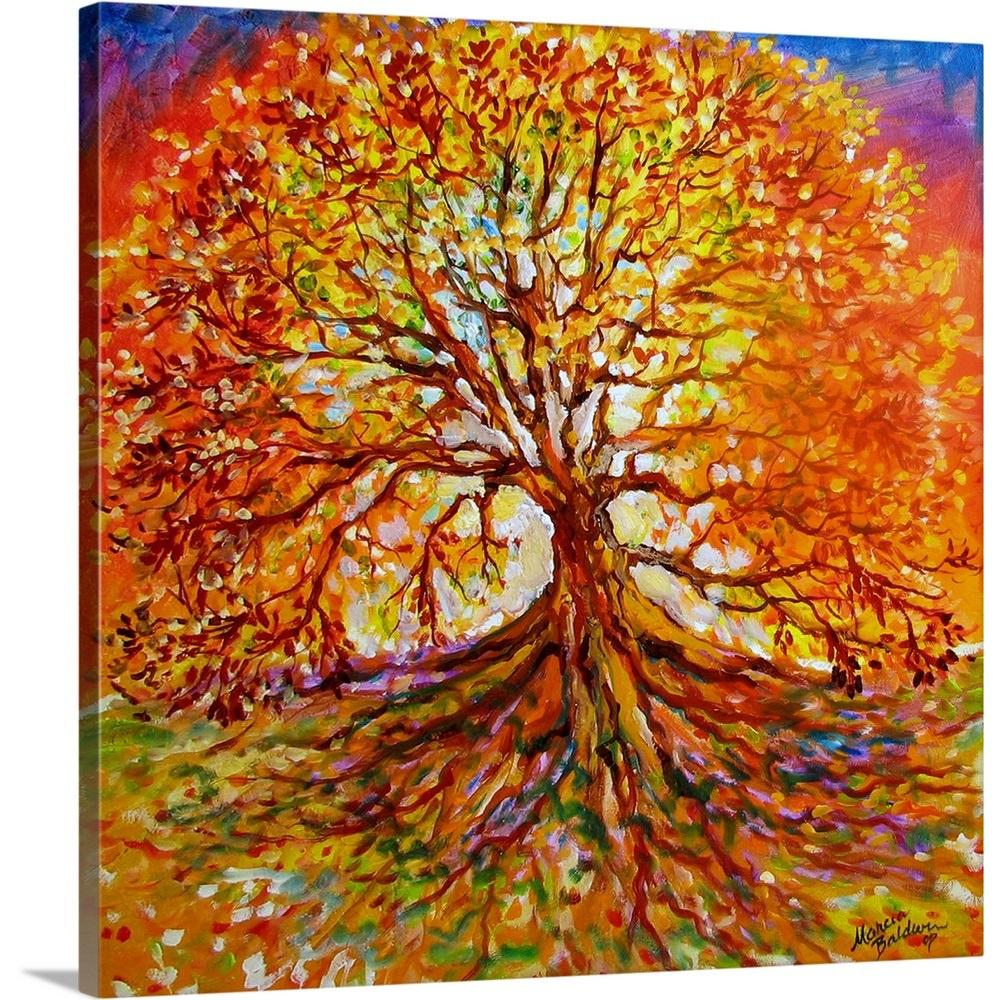 Tree of life autumn sunset by marcia baldwin canvas wall art 2527474 24 24x24 the home depot
