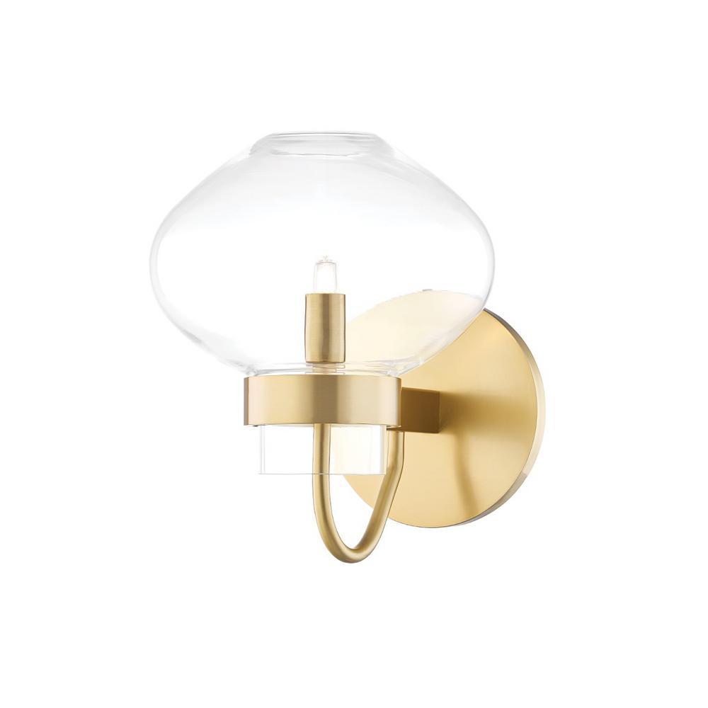 Korey 1-Light Aged Brass Wall Sconce